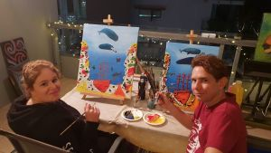 Paint and Sip Social Art Classes 2 for 1 - Accommodation Perth