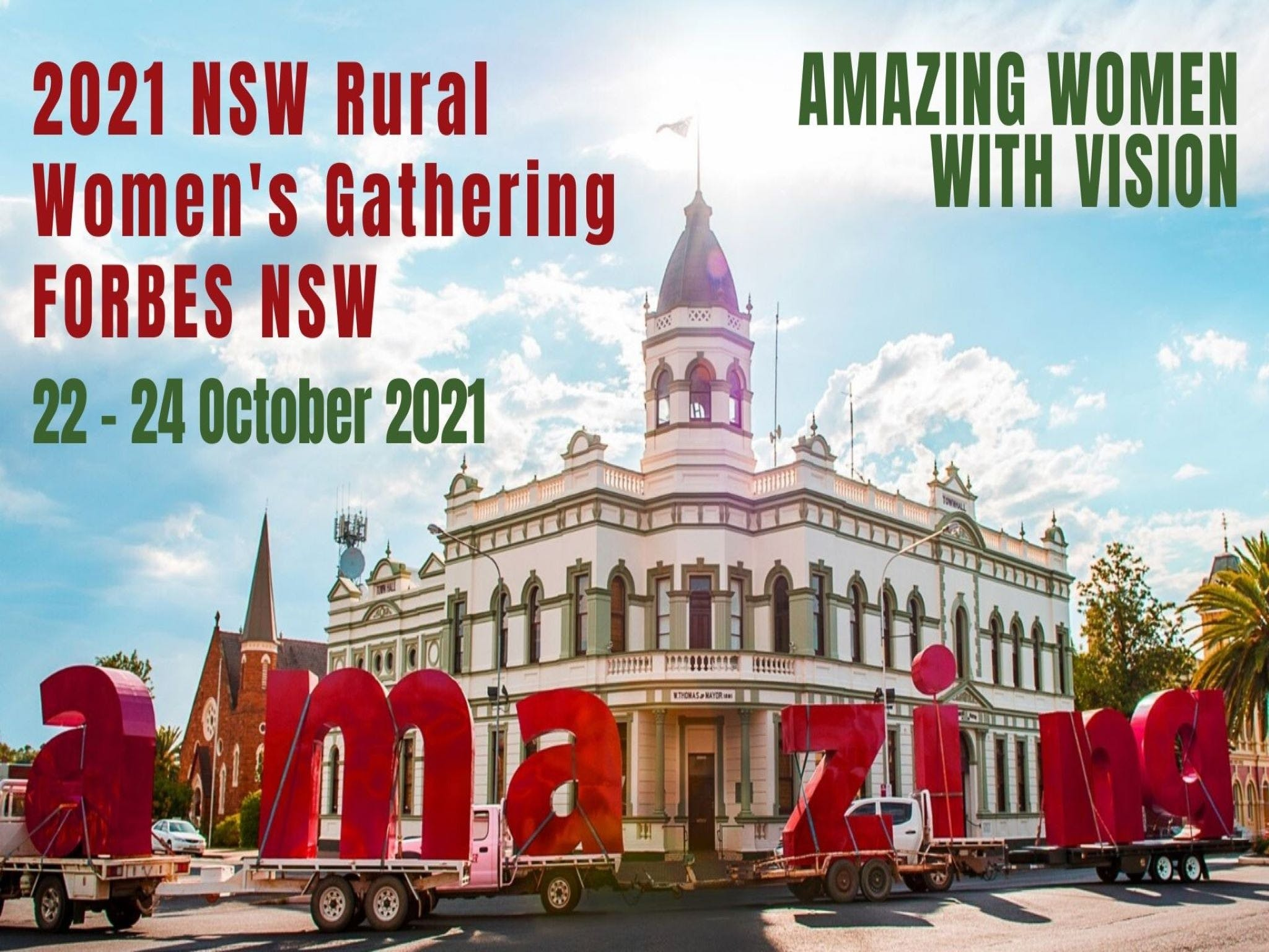 Forbes NSW Rural Women's Gathering - Accommodation Perth