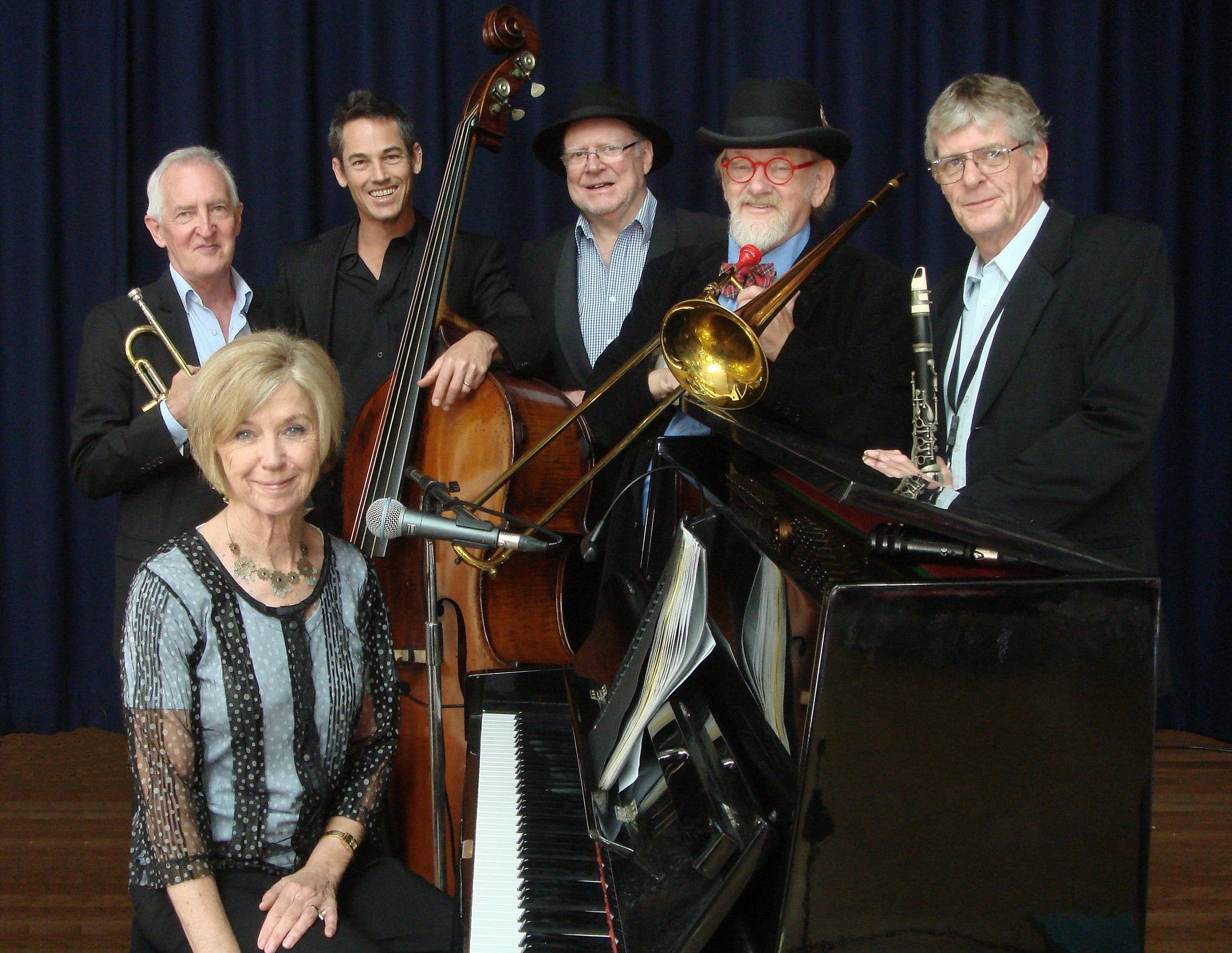 The Caxton Street Jazz Band in the Swigmore Hall at Robert Channon Wines - Accommodation Perth